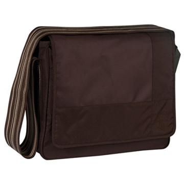 Lässig Casual Messenger Bag Wickeltasche/Babytasche inkl. Wickelzubehör Patchwork, choco -
