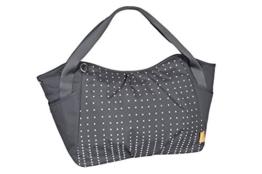 Lässig Casual Twin Bag Zwillings-/Wickeltasche mit verstellbarem Schultergurt inkl. Wickelzubehör, Dotted lines ebony -
