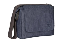 Lässig Green Label Small Messenger Bag Update Wickeltasche/Babytasche inkl. Wickelzubehör  denim blue -