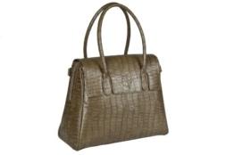 Lässig Tender Brief Bag Wickeltasche/Babytasche inkl. Wickelzubehör, Croco, olive -