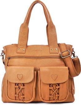 PHIL+SOPHIE, Cntmp, Damen XL Leder Wickeltaschen, Diaper Bags, Babytaschen, Buggy-Taschen, Leder, Camel, Senfgelb, Mustard, 40x35x11cm (B x H x T) -