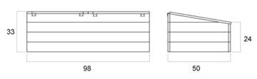 Frühbeet Irene - Abmessungen: 98 x 50 x 33 cm (L x B x H) -