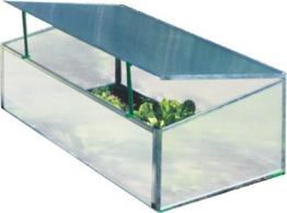 Gartentec Aufzucht Frühbeet Einfach 0,57 qm, 4 mm starke Hohlkammerplatten, Made in Germany -