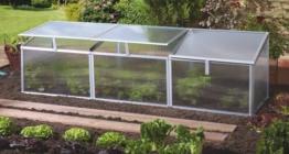 Pergart Frühbeet Gaia 3x, 180 x 50 cm, 3 Dachfenster -