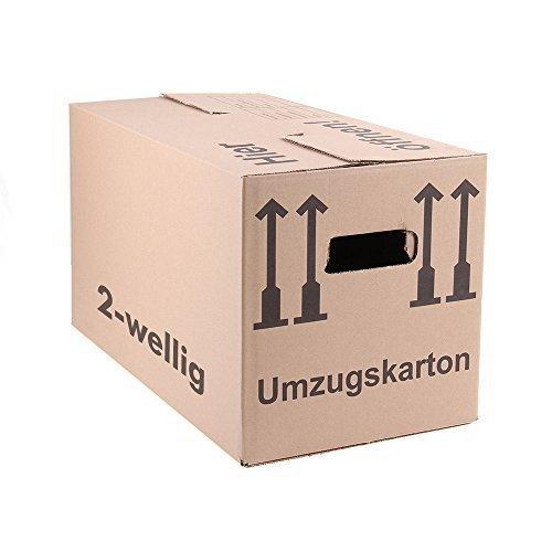 25 Umzugskartons Faltkartons Umzugskisten Movebox 2-wellig doppelter Boden Profi 600 x 330 x 340mm von A&G-heute -