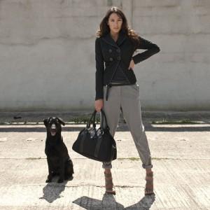 Moderne Wickeltasche als Handtasche