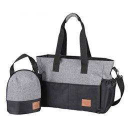 Aosbos 2-teiliges Babytasche Set Wickeltasche Große Kapazität Pflegetasche Kinderwagen Organizer -