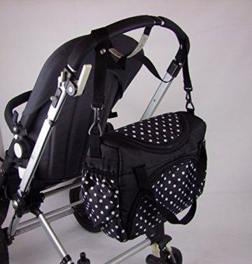 Babys-Dreams Wickeltasche für Kinderwagen Kinderwagentasche FLOWERS GRAU + Wickelunterlage -