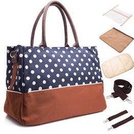 BAYTTER® Multifunktionale Baby Wickeltasche Pflegetasche Handtasche Kinderwagen Buggy Pflegetasche, 40 x 18 x 29cm -