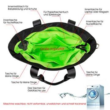 BAYTTER® multifunktionale Wickeltasche Set Schultertasche aus Nylon für Flaschen, Windeln, Babykleidung usw. wasserdicht, eine Geldtasche mitgeliefert, schönes Design, BPA-frei und kein Geruch (schwarz) -
