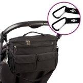 BTR Universal Kinderwagen- / Buggy-Organiser, schwarz, Wickeltasche, Hängetasche oder Babytasche, wasserfest als Einheitsgröße -