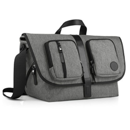 GAGAKU Große Wickeltasche für Väter Messenger Tasche Umhängetasche mit 17 Taschen - Heater Grau -