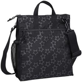 Lässig Casual Buggy Bag Organizer Kinderwagenorganizer/-tasche inkl. Stroller Hooks, Reflective Star, schwarz -