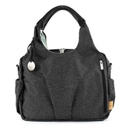 Lässig Green Label Neckline Bag Ecoya Wickeltasche/Babytasche inkl. Wickelzubehör aus recyceltem Material, anthracite -