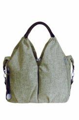 Lässig Green Label Neckline Bag Wickeltasche/Babytasche inkl. Wickelzubehör aus recyceltem Material, choco mélange -