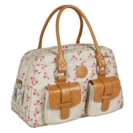 Lässig Vintage Metro Bag Wickeltasche/Babytasche inkl. Wickelunterlage Rosebud Fairytales -