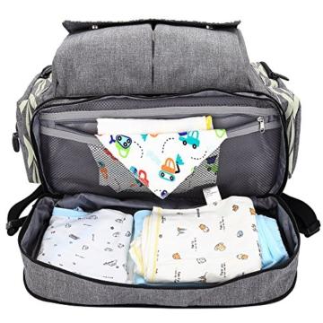 Lekebaby baby wickeltasche rucksack mit wickelunterlage - Fundas para cambiador de bebe ...