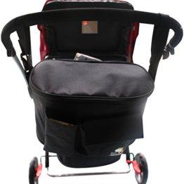 Upee Thermo Multifunktionale Baby Windel Wickeltasche Kinderwagen Organizer Mama Schulertasche (Schwarz) -