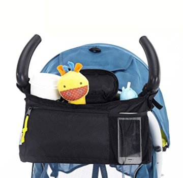 VALUE MAKERS Universal Kinderwagen- / Buggy-Organiser, schwarz, Wickeltasche, Hängetasche oder Babytasche, wasserfest als Einheitsgröße(B) -
