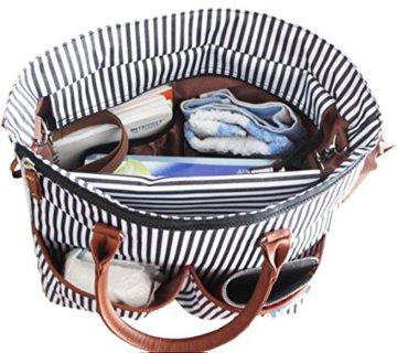 Wickeltasche für Windeln, Baby-Kleidung, Flaschen - Wasserdichte Wickeltisch für unterwegs inklusive ★ Nackenband mit Halterung für Kinderwagen & Kinderwagen - wickelauflage ★ 100% GARANTIE und KOSTENLOSE LIEFERUNG -